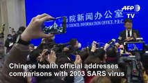 New China virus 'not as powerful as SARS'