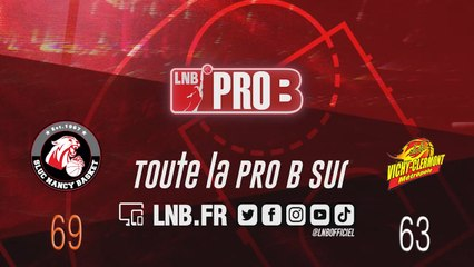PRO B : Nancy vs Vichy-Clermont (J16)