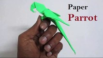 Origami Parrot That Sits On Your Finger | How to Make A Paper Parrot Origami | Paper Parrot Making | DIY Paper parrot