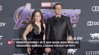 Robert Downey Jr.'s Kids On Iron Man