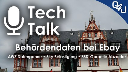 Behördendaten bei Ebay, Cyberpunk 2077, AWS Datenpanne, SSD-Abzocke | QSO4YOU.com Tech Talk #21
