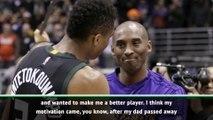 Kobe gave me 'the flame' to be MVP - Giannis