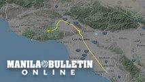 UGC animation of flight path of Kobe Bryant's helicopter