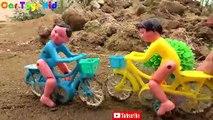 Spiderman, bicycles, excavators, tank, car toys for children