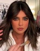 Priyanka goes beige & satin for pre-Grammy bash