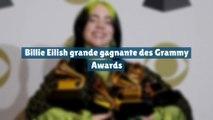 Billie Eilish grande gagnante des Grammy Awards