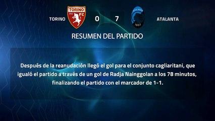 Resumen partido entre Torino y Atalanta Jornada 21 Serie A