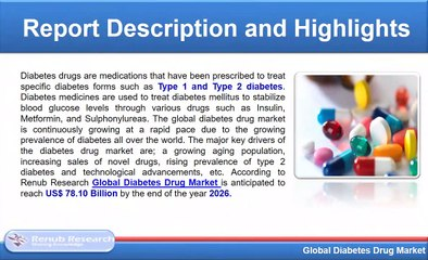 Diabetes Drug Market & Global Forecast By Disease, Oral Therapy