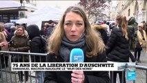 """75 ans de la libération d'Auschwitz : Emmanuel Macron inaugure le """"mur des noms"""""""