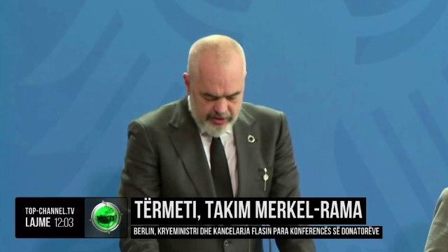 Tërmeti, takim Merkel-Rama/ Kryeministri dhe kancelarja flasin para konferencës së donatorëve