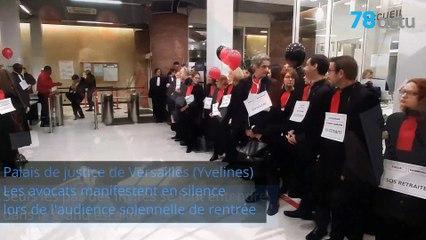 Réforme des retraites : la manifestation silencieuse des avocats des Yvelines.