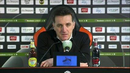 La réaction de Christophe Pelissier après FC Lorient - Nancy (2-1) 19-20