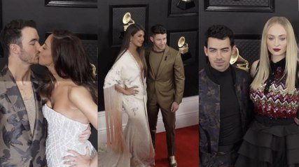 Jonas Brothers and J-Sisters at the 2020 Grammy Awards