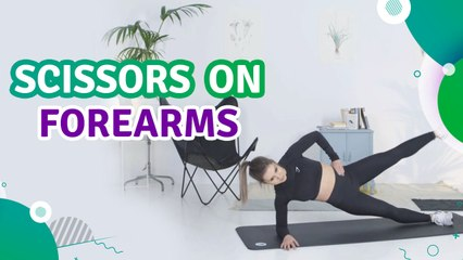 Scissors on forearms - Fit People