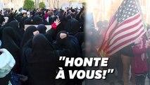 """Drapeau américain brûlé, """"ministre incompétent"""", nouvelle protestation à Téhéran"""