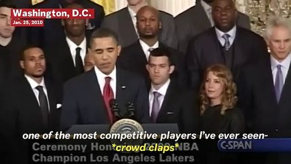 Footage Of President Obama Speaking About Kobe Bryant During 2009 Lakers Championship Ceremony