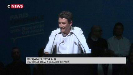 Municipales à Paris : Benjamin Griveaux et Cédric Villani en meeting