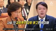 '추미애 감찰' vs '윤석열 감찰'