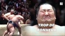 Après sa victoire surprise, les larmes de ce champion de sumo ont ému les fans