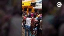 Vídeo mostra populares pegando mercadorias descartadas por comerciantes em Cachoeiro