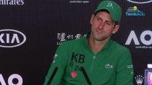 "Open d'Australie 2020 - Novak Djokovic : ""Roger Federer is Roger Federer! He loves big matchs"""