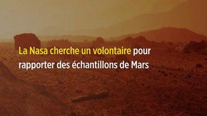 La Nasa cherche un volontaire pour rapporter des échantillons de Mars