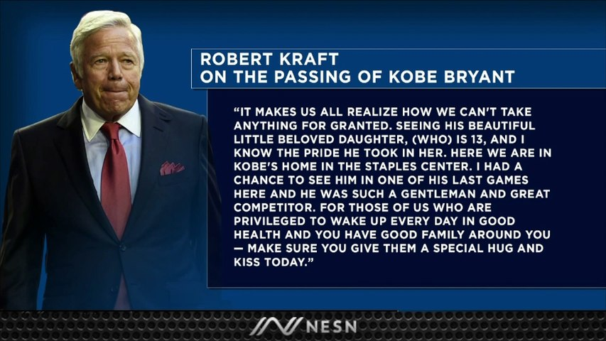 Robert Kraft Offers Condolences, Perspective On Kobe Bryant's Death