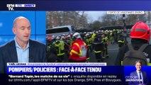 Story 1 : Face-à-face tendu entre pompiers et policiers en marge d'une manifestation à Paris - 28/01