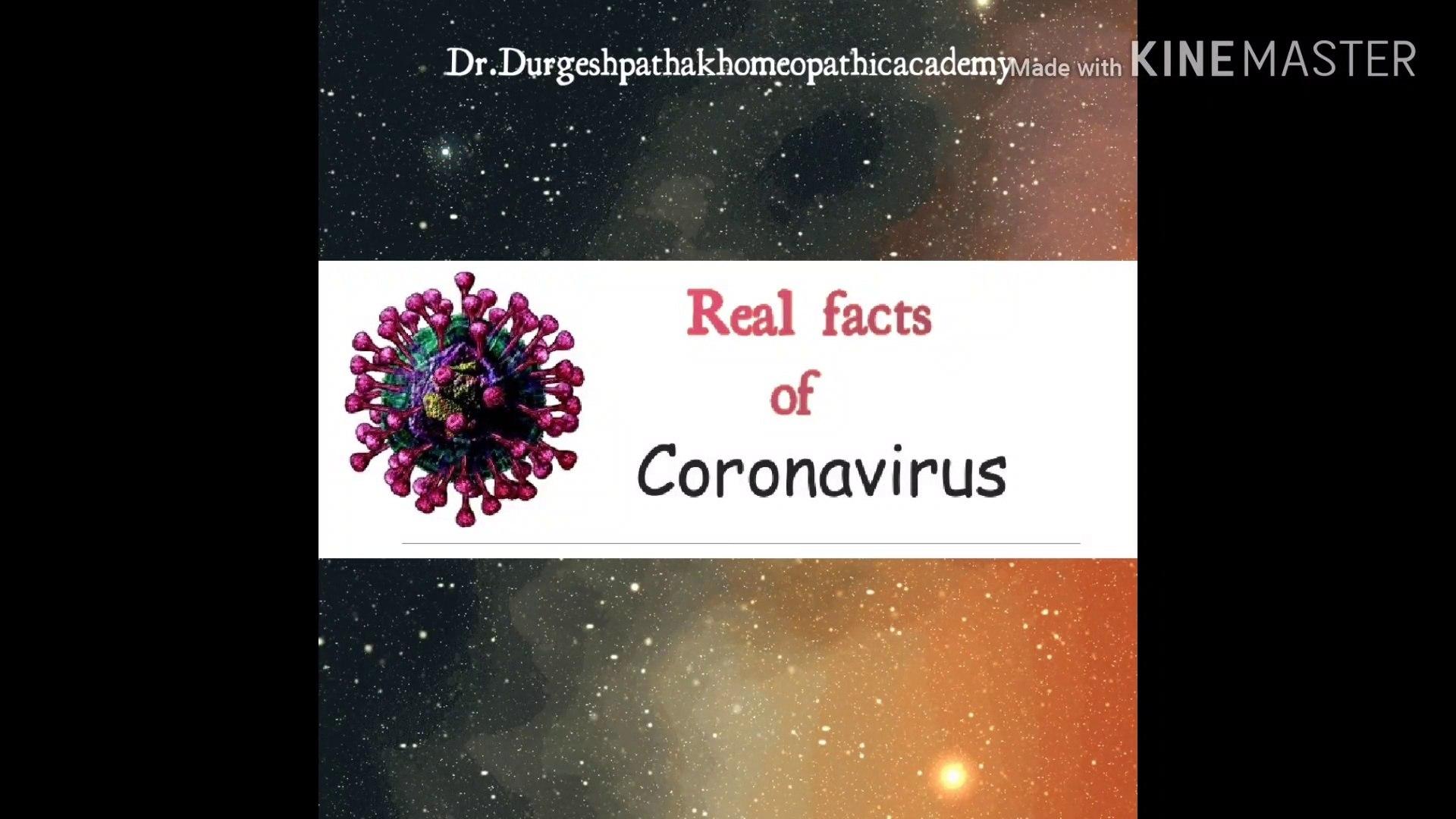 CORONA VIRUS-Real facts
