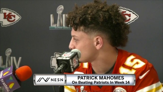 Patrick Mahomes Knows Beating Patriots In Week 14 Was Huge For Chiefs