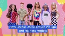 New Barbie Dolls Feature Vitiligo and Hairless Models