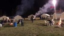 Manisa'da süleymanlı mahallesi'ne 20 çadır kuruldu