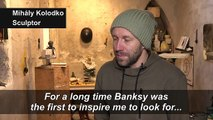Budapest's 'Banksy' triggers nostalgia and debate