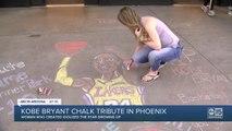 Kobe Bryant chalk tribute in Scottsdale