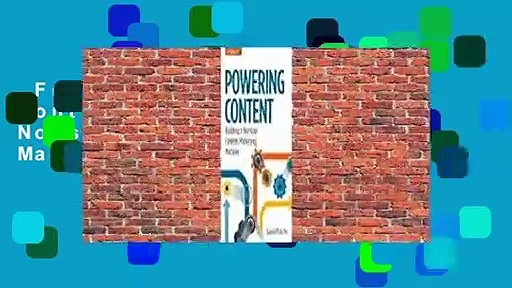 Full version  Powering Content: Building a Nonstop Content Marketing Machine Complete