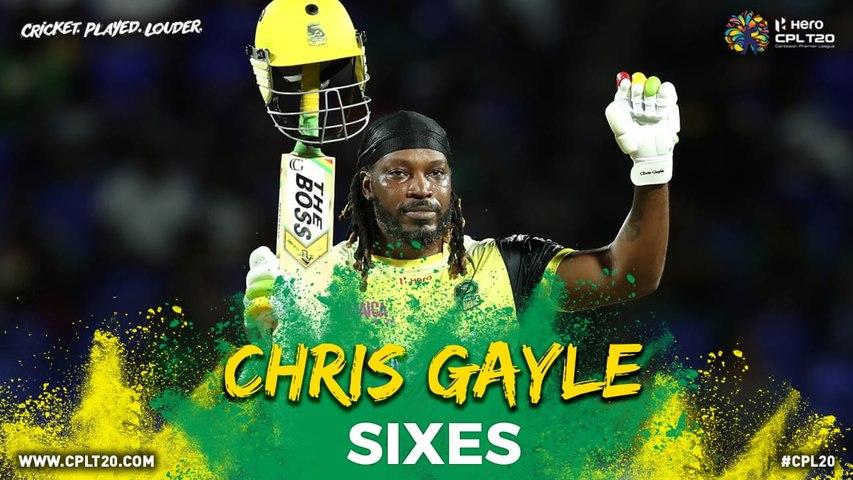 CHRIS GAYLE SIXES   #CPL #CricketPlayedLouder #BiggestPartyInSport