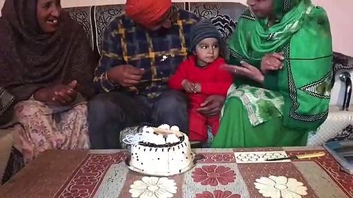 sharing of the birthday cake…..