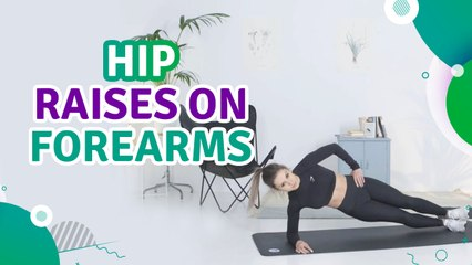 Hip raises on forearms - Fit People