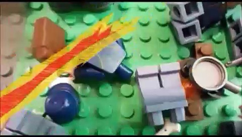 Lego Civil War battle