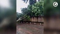 Chuva forte atinge cidade de Divino São Lourenço, no Sul do ES