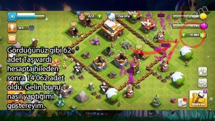 Clash of Clans Hile - Clash of Clans Taş Hilesi - 14.000 Taş - 2020