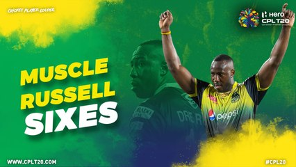 ANDRE RUSSELL SIXES | #CPL | #CricketPlayedLouder