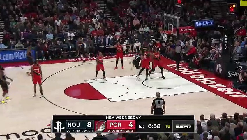 Houston Rockets 112 - 125 Portland Trail Blazers