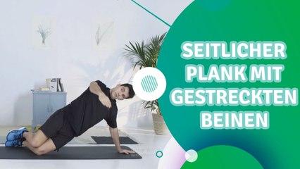 Seitlicher Plank mit gestreckten Beinen - Du Bist Fit