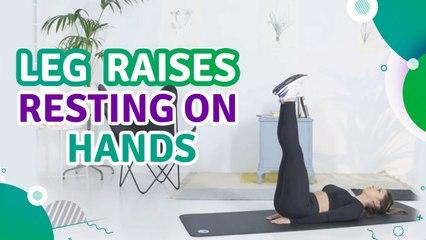 Leg raises resting on hands - Fit People