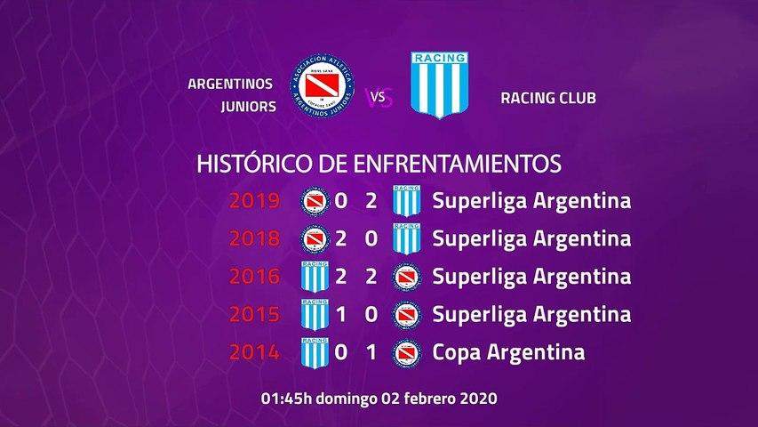 Previa partido entre Argentinos Juniors y Racing Club Jornada 18 Superliga Argentina