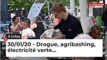 Drogue, agribashing, électricité verte... Cinq infos bretonnes du 30 janvier