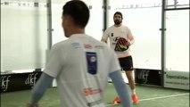Veteranos del Real Madrid y el Atlético disputan un torneo de pádel