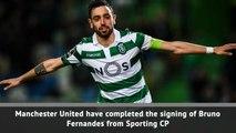 BREAKING NEWS: Man United complete Bruno Fernandes signing