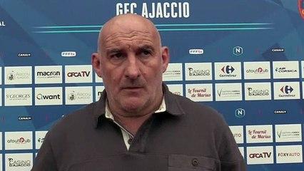 Le point presse du coach F. Ciccolini avant le déplacement face à Bastia-Borgo